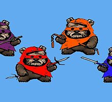 TEENAGE MUTANT NINJA EWOKS- battle by greatbritton99