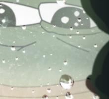 Pepe, the Sad Frog (Rainy Window) Sticker