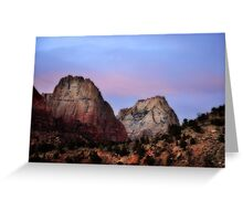 Great White Throne, Zion National Park Greeting Card
