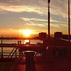portsmouth harbour sunset by gabriel6