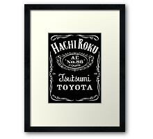 Fortitude's Toyota Corolla / Levin / Trueno AE86 Hachi Roku 'Drink & Drive' T-Shirt Framed Print