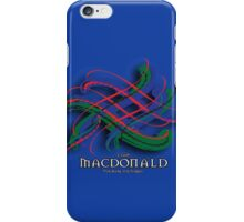 Clan MacDonald Tartan Twist iPhone Case/Skin