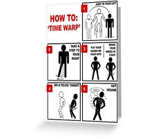 Rocky Horror Picture Show Time Warp Greeting Card