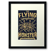 The Flying Spaghetti Monster (dark) Framed Print