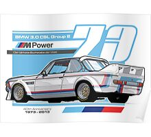 BMW - 3.0 CSL GROUP 2 Poster