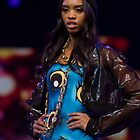 Model on the catwalk at the Clothes Show live 2014 in Birmingham by Keith Larby