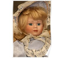 blond doll head Poster