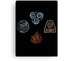 The four Elements Avatar symbols Canvas Print