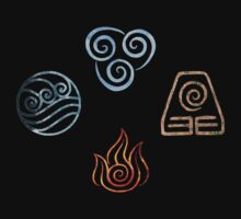 The four Elements Avatar symbols by Ellen Kapelle