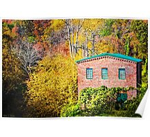 Roswell Mill in Fall Poster