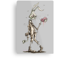 Bugs Zombunny (Sepia) Metal Print