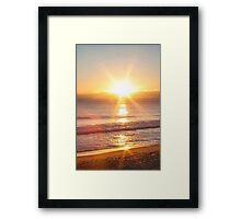 sunset star Framed Print