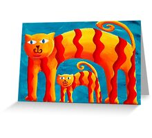 Curved Cats Greeting Card