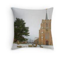 Kimpton Church in the Snow Throw Pillow