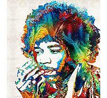 Jimi Hendrix Tribute by Sharon Cummings Photographic Print
