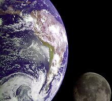 Earth and Moon by Old-Time-Images