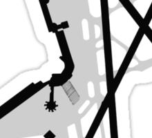 Washington National Airport Diagram Sticker