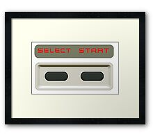 Select Start buttons NES controller pad. Framed Print
