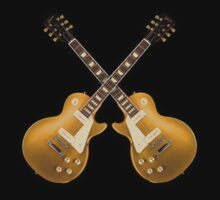 Double Gibson Les Paul Goldtop by mayala