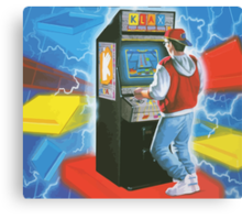 Klax. Amazing retro arcade machine cabinet gamer! Canvas Print
