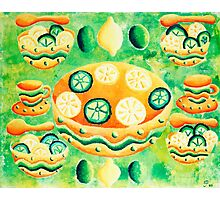 Lemons and Limes with Bowls Photographic Print