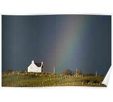 House and Rainbow Poster