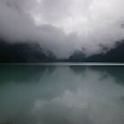 Emerald Lake in the Mist by JohnT