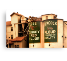 Peacock Flour Metal Print