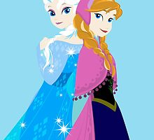 Elsa & Anna by Icare