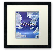 "ECO VIRTUAL - ""ATMOSPHERES 第1"" Framed Print"