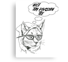 Cynical Cat- Joy Division Canvas Print