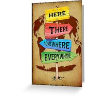 Directions Panels Wanderlust Greeting Card