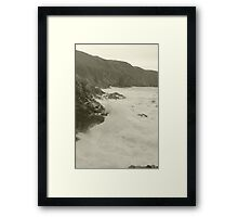 Jersey Cliffs Framed Print
