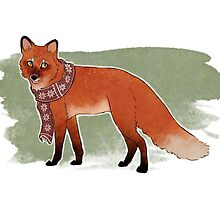 Scarf Fox by sophieeves90