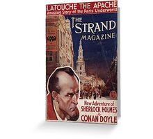 Sherlock Holmes  - The Strand Magazine Cover - Vintage Print Greeting Card