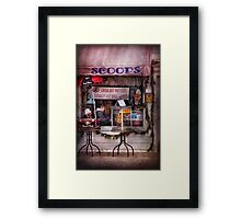 Cafe - Clinton, NJ - The luncheonette  Framed Print