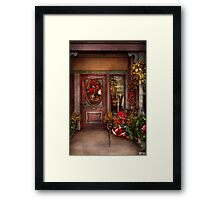 Winter - Store - Metuchen, NJ - Dressed for the holidays Framed Print