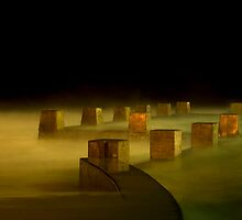 Midnight at Coogee Baths by Lucy  Macnaught