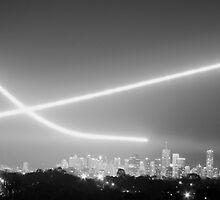 F111 Flyby at night by Adam Turner