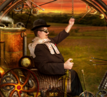 Steampunk - The gentleman's monowheel Sticker