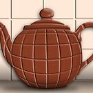 CHOCOLATE TEAPOT by Katseyes