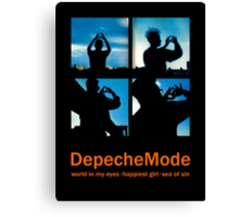 Depeche Mode : World In My Eyes / Happiest Girl / Sea of Sin - 2 - Photo Canvas Print