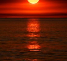 Red sunset over the Indian Ocean Sticker