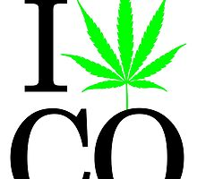 I Heart CO - Legalized Marijuana Logo by andabelart