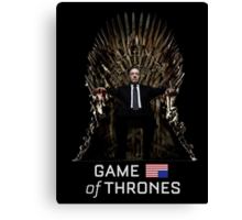 House of Cards/Game of Thrones: Frank Underwood Canvas Print