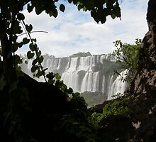 Glimpse of Iguazu falls by tokyoty