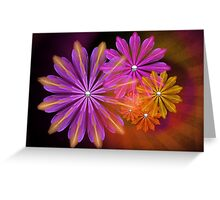 Sunset Foral Greeting Card