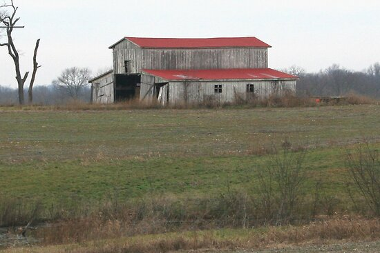 red roof barn by ahedges