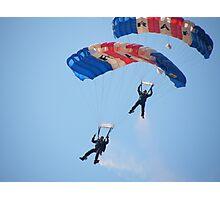 The RAF Falcons Freefall Parachute Display Team 5 Photographic Print
