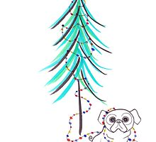 Christmas (pug)life by pennypocket